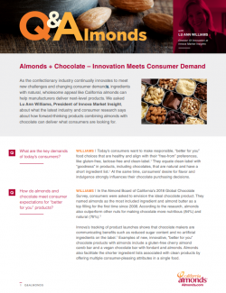 Almonds + Chocolate – Innovation Meets Consumer Demand Q&Almonds.PNG